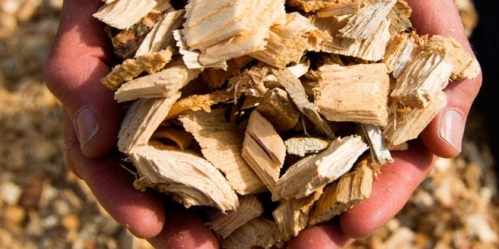 Tipos de Biomasa y cómo saber si es de calidad: Las astillas