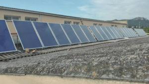 cubierta plana instalacion solar