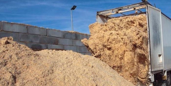 Proceso de transformacion de la biomasa en pellets