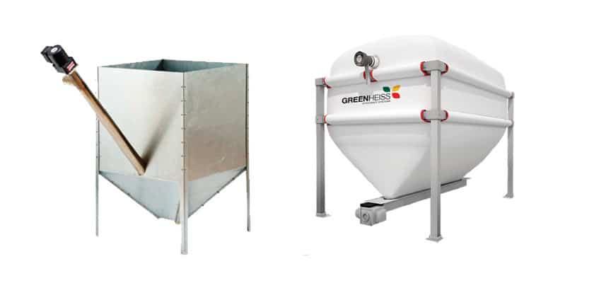 Los silos en las instalaciones de biomasa